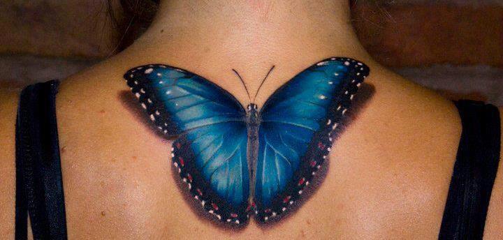 Mariposa 3d Gigante Tatuajes Para Mujeres