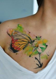 Mariposa en Flor Acuarelas by Aleksandra Katsan