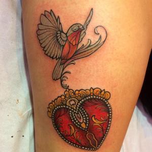 Corazón Candado y Ave by Miss Juliet