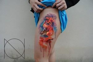 Zorro en Acuarelas by Ondrash tattoo