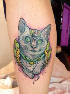 Gato con cascabel by Miss Juliet
