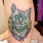 Gato con cascabel by Miss Juliet