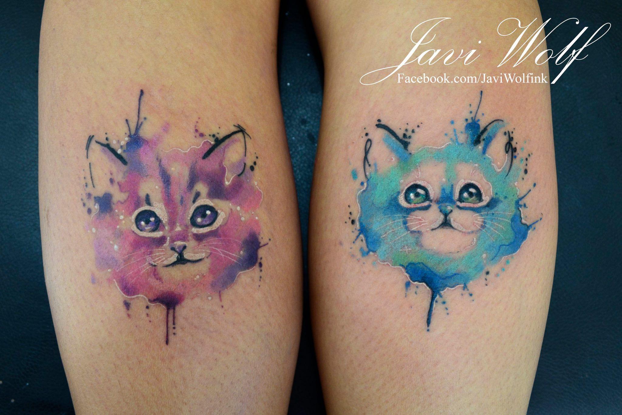Gatitos En Acuarelas By Javi Wolf Tatuajes Para Mujeres