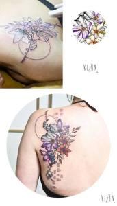 Flores y Libélula by Kizun