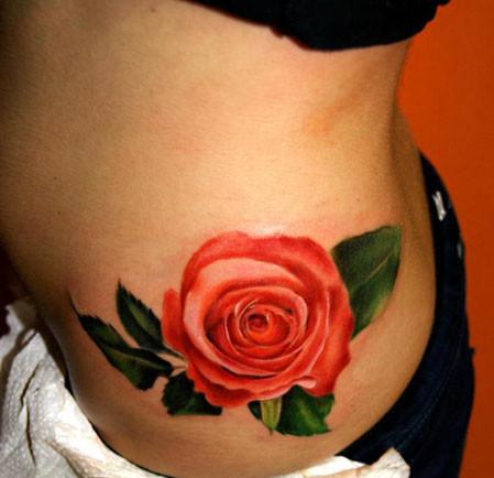 Flor Rosa en 3D