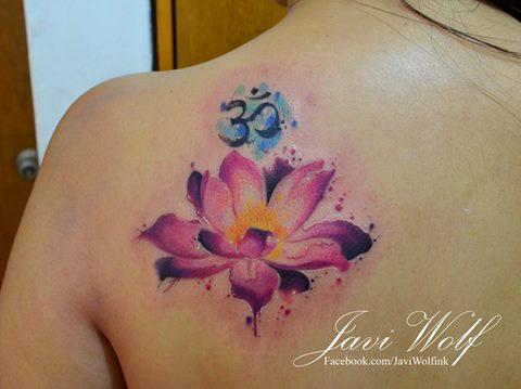 Flor de Loto y Signo Om by Javi Wolf