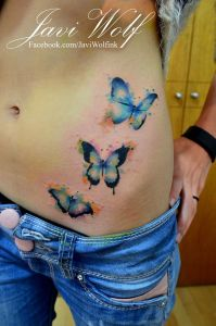 Mariposas estilo acuarelas by Javi Wolf
