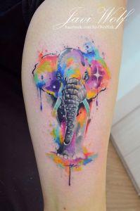 Elefante estilo Acuarelas por Javi Wolf