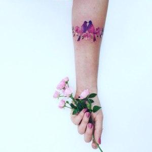 Aves y Flores de Cerezo por Pis Saro