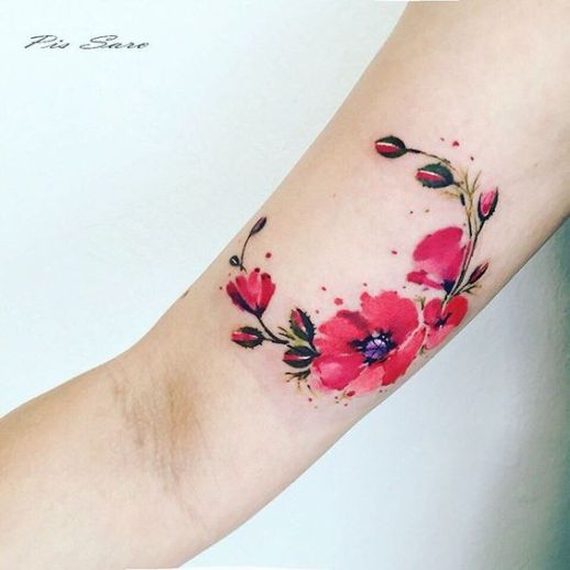 Ramillete Flores de Amapola