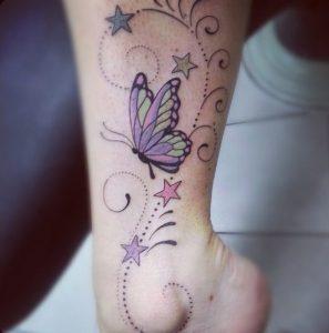 Mariposa, estrellas y firuletes