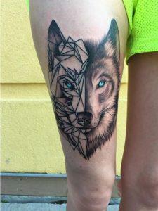 Lobo estilo geométrico