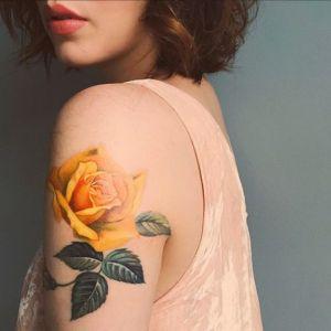 Flor Rosa Amarilla