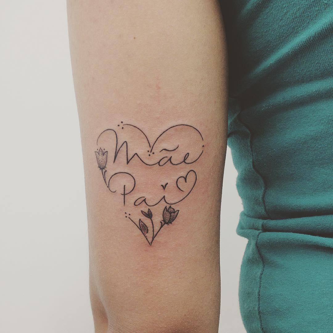Frase Mamá Y Papá Tatuajes Para Mujeres