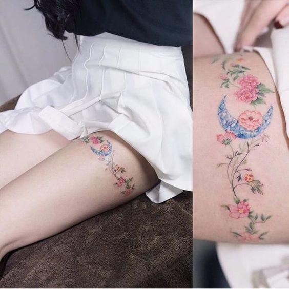 Liga De Flores Tatuajes Para Mujeres