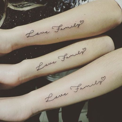 Frase: Love Family