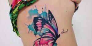 Flor Rosa Negra Tatuajes Para Mujeres