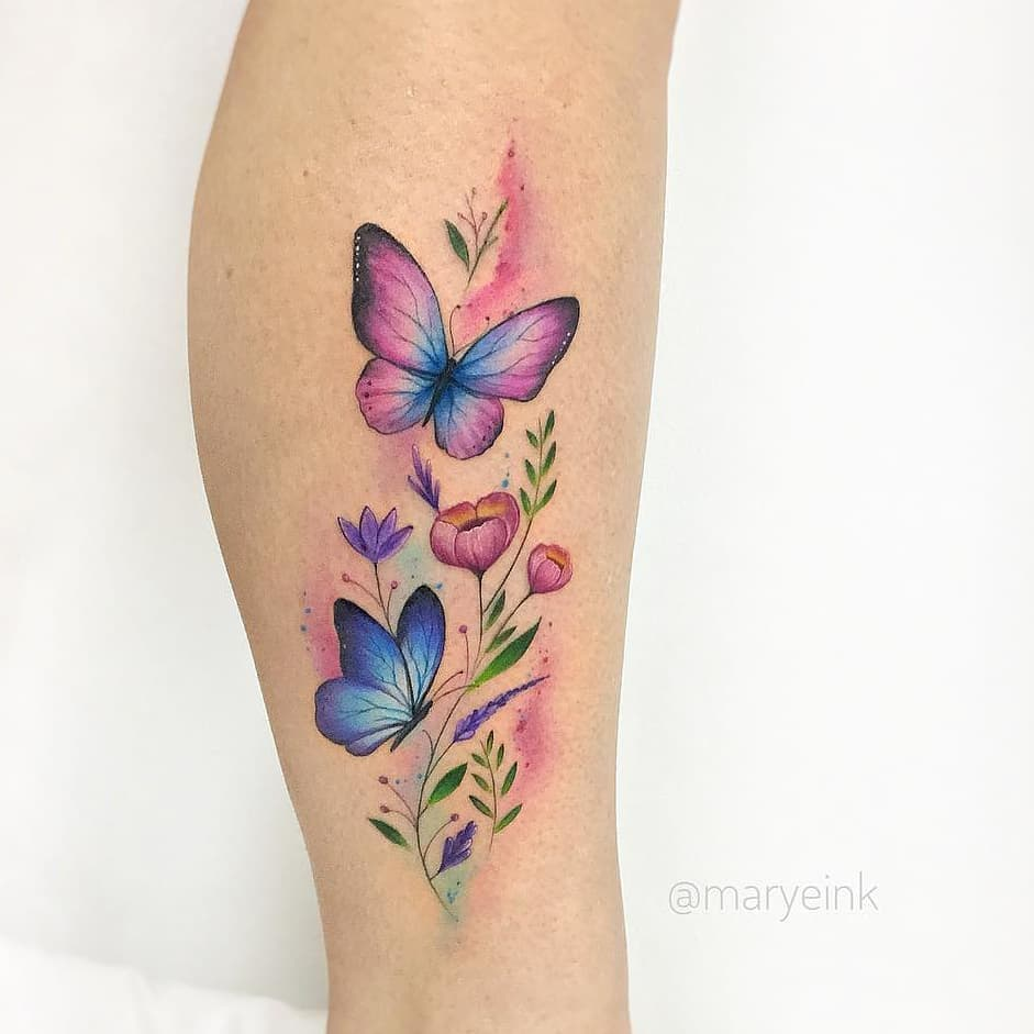 Mariposas Estilo Acuarelas Tatuajes Para Mujeres