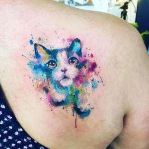 Gato estilo Acuarelas por Javi Wolf