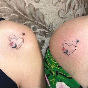 Corazón y Flor de amistad