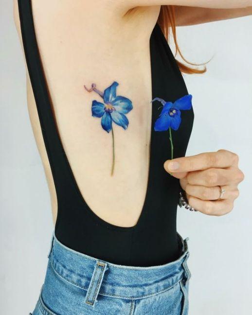 Flor in blue