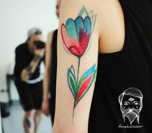 Flor por Bumpkin Tattoo