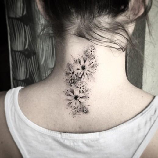 Flores estilo Stencil