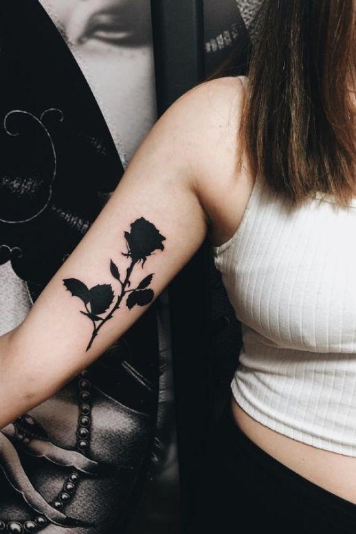 Rosa negra de la pasión