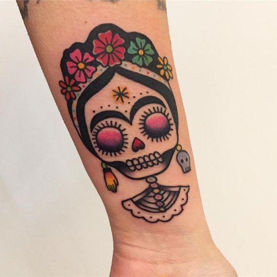 Calavera De Frida Kahlo Tatuajes Para Mujeres