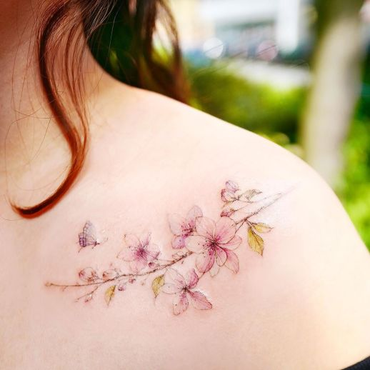 Flores de cerezo por 타투이스트 바늘