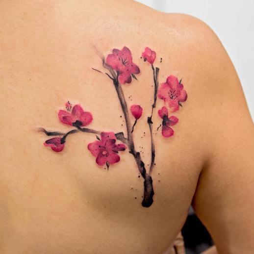 Flores de Cerezo por Georgia Grey