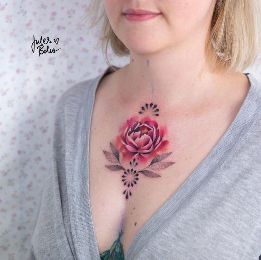 Flor rosa por Jules Boho