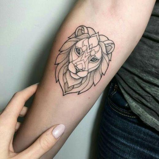 Rostro de león geométrico