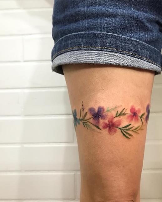 Liga de flores por LCjunior Tattoo