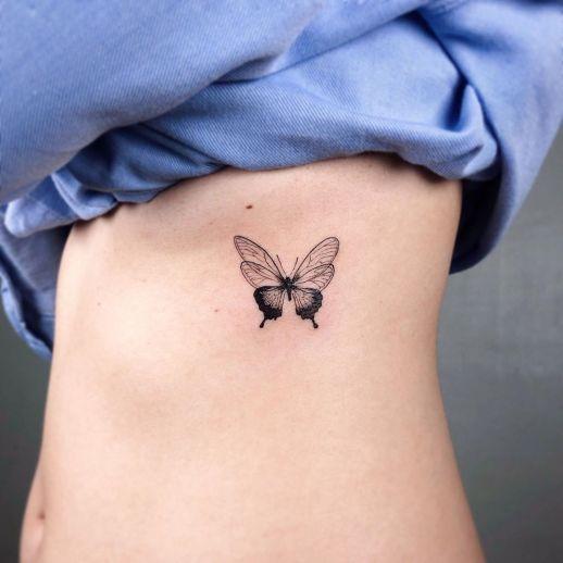 Mariposa por Howdy Tattoo