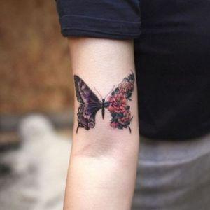 Metamorfosis de una mariposa por Tattooist Grain
