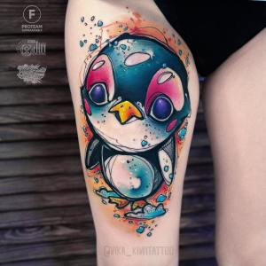 Pingüino angelical por Вика Kiwi Tattoo