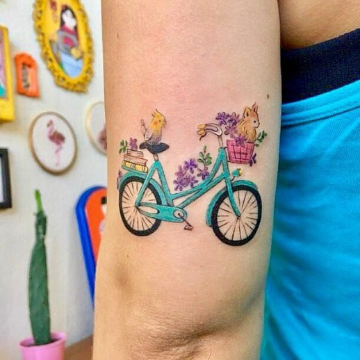 Bicicleta por Luciana Periard Art Efeito