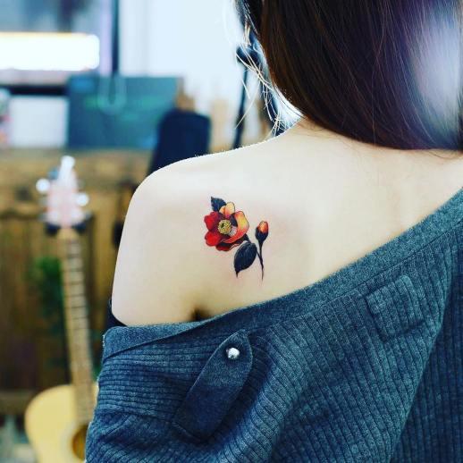 Flor de amapola por Tattooist Doy