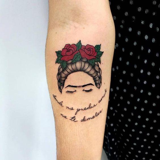 Frase Donde No Puedas Amar No Te Demores Por Frida Kahlo