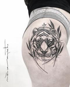 Tigre por Mònica Sampietro