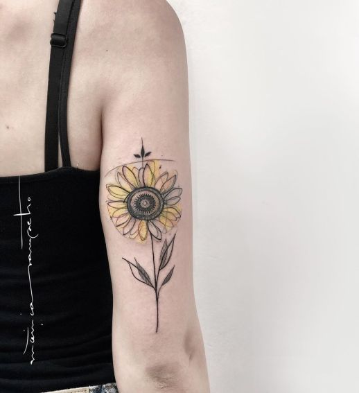 Flor de girasol por Mònica Sampietro