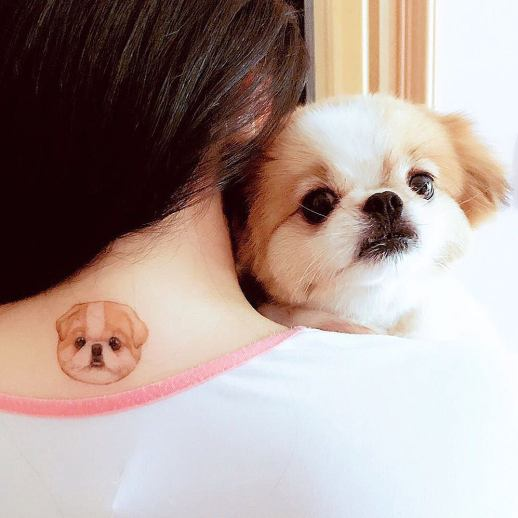 Cara perro por Mini Tattoo