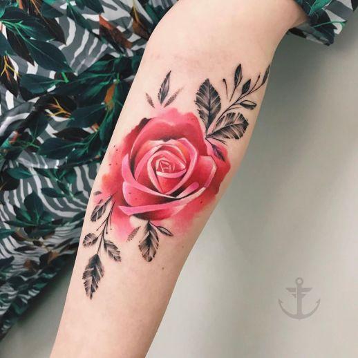 Flor rosa por Felipe Bernardes