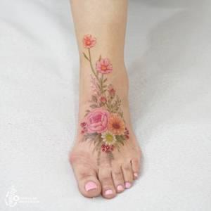 Flores por Tattooist Silo