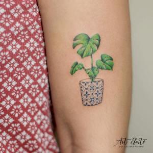 Planta en maceta por Luciana Periard Art Efeito