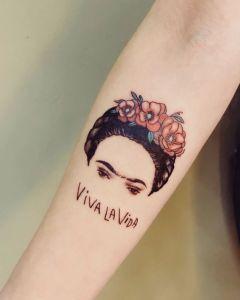 Frase: Viva la vida por Frida Kahlo