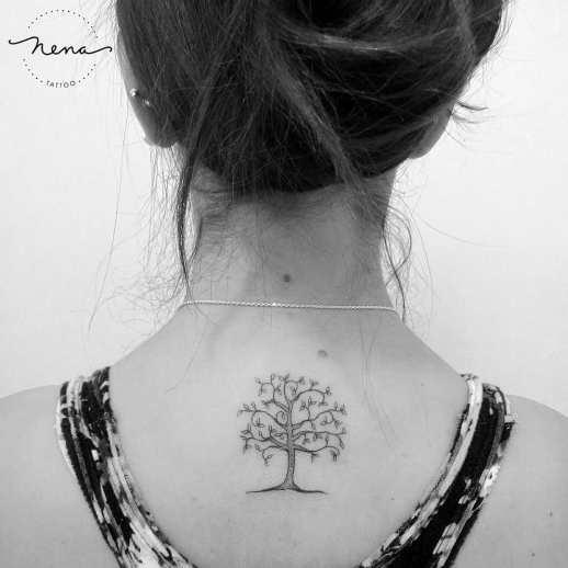 Árbol por Nena Tattoo Diana Opazo