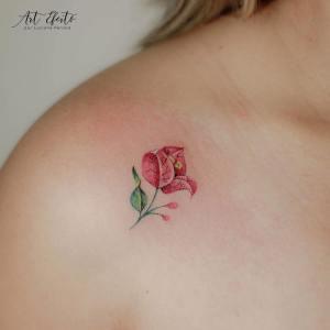 Flor rosa por Luciana Periard, Art Efeito