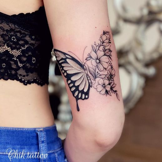 Metamorfosis de una mariposa por Steve Savard, Chik Tattoo